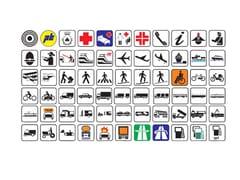 Lazzari, Segnale stradale Simboli per segnali di indicazione