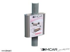 Bacheca autoportante bifacciale in metalloTabella Porta Orari - DIMCAR
