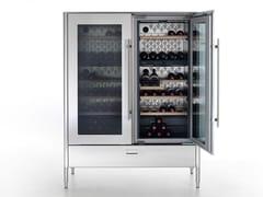 Cantinetta frigo verticale con anta in vetroLIBERI IN CUCINA | Cantinetta frigo verticale - ALPES-INOX