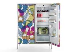 Colonna per frigo-congelatore con ante in laminatoLIBERI IN CUCINA - COLONNA FRIGO 128 - ALPES-INOX