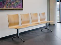 Seduta su barra in acciaio e legnoIKARA | Seduta su barra - ACTIU