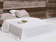 Coordinato letto ricamato in lino PEONIE | Coordinato letto - Decor