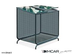 DIMCAR, Contenitore in rete Portarifiuti in acciaio per esterni con coperchio