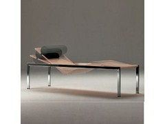 Chaise longue imbottita in acciaio CURVILINEA - MATRIX INTERNATIONAL