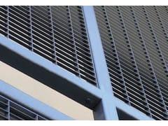 Recinzione paravista in acciaioWALL A FILO - GRIDIRON CANALI DI DRENAGGIO