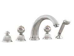 Set vasca a 5 fori con cristalli Swarovski®ARTICA | Set vasca con cristalli Swarovski® - BRONCES MESTRE