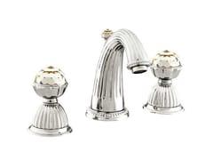 Rubinetto per lavabo a 3 fori con cristalli Swarovski®ARTICA | Rubinetto per lavabo con cristalli Swarovski® - BRONCES MESTRE