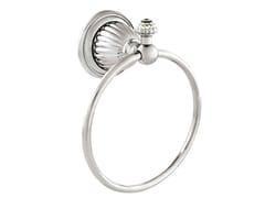 Porta asciugamani ad anello in ottone con cristalli Swarovski®ARTICA | Porta asciugamani con cristalli Swarovski® - BRONCES MESTRE