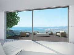 Porta-finestra a taglio termico scorrevole in alluminioSchüco ASS 77 PD.HI - SCHÜCO INTERNATIONAL ITALIA
