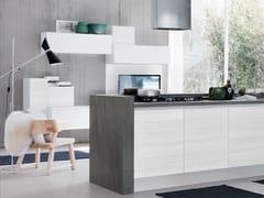 Cucina componibile in legno senza maniglie ESSENZA | Cucina - Essenza