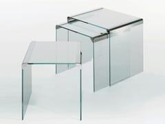 Tavolino impilabile in cristalloT 35 TRIO - GALLOTTI&RADICE