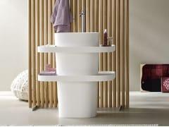 Lavabo freestanding ovale in Corian® FONTE | Lavabo freestanding - Fonte