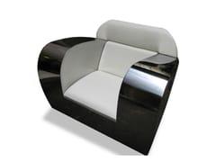 Poltrona in acciaio inox FAT ASS - handmade metal furniture by Ici et Là