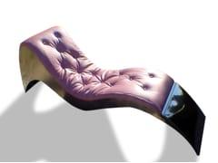 Chaise longue imbottita in pelleWAVE - ICI ET LÀ
