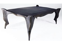 Tavolo rettangolare in acciaio GOTHIC - handmade metal furniture by Ici et Là