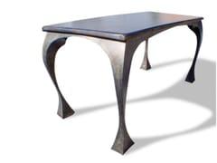 Tavolo rettangolare in acciaio design BRIDE - handmade metal furniture by Ici et Là
