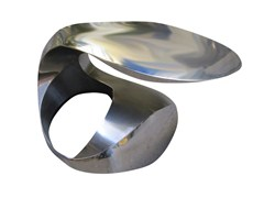 Tavolino di servizio in acciaio CHARMED - handmade metal furniture by Ici et Là