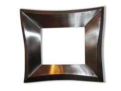 Specchio quadrato con cornice MARCO - handmade metal furniture by Ici et Là