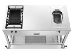Cucina da esterno in acciaio inox con grill e friggitriceLIBERI IN CUCINA | Cucina da esterno - ALPES-INOX