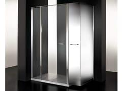 VISMARAVETRO, TWIN MINI Box doccia in cristallo con vano estraibile