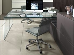 Scrivania in cristallo AIR DESK 1 UP - GALLOTTI&RADICE