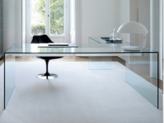 Scrivania in cristallo AIR DESK L - GALLOTTI&RADICE