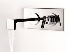 Miscelatore per lavabo a 2 fori a muro con piastra WATERBLADE J | Miscelatore per lavabo con piastra - Waterblade J