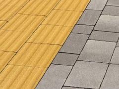 Pavimento tattile in calcestruzzoLINEA TATTILE - FAVARO1