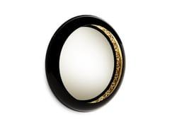 Specchio rotondo in mogano a parete con cornice RING | Specchio rotondo - Coolors