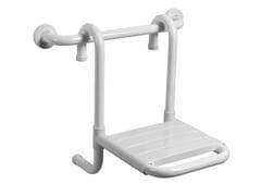 Sedile doccia ribaltabile in acciaio zincato TUBOCOLOR | Sedile doccia in acciaio zincato - Tubocolor