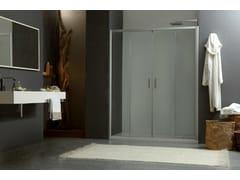 Box doccia a due posti a nicchia con porta scorrevole MORE LIVE P2S - More Live
