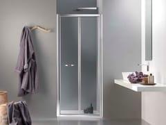 Box doccia a nicchia in vetro con porta a soffietto MORE LIVE PS - More Live