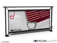 Transenna / pannello pubblicitario in acciaio zincatoRecinzione Palermo Pubblicitaria - DIMCAR