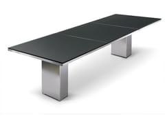 Tavolo da giardino rettangolare DOBLE | Tavolo da giardino - Cima