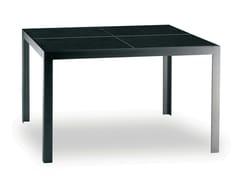 Tavolo da giardino quadrato in acciaio inox NIMIO 100/140 - Cima