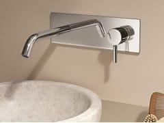 Miscelatore per lavabo a muro con piastra NOSTROMO - D013A/E313B - Nostromo