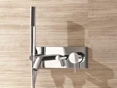 Miscelatore per vasca a muro con doccetta CAFÈ | Miscelatore per vasca con piastra - Cafè