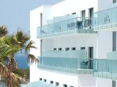 Parapetto in vetro con borchie di fissaggio in inoxEASY GLASS® MOD 0742-0749 - Q-RAILING ITALIA