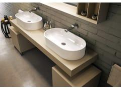 Lavabo da appoggio ovale in ceramica PASS | Lavabo da appoggio - Pass