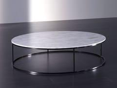 Tavolino basso rotondo in marmo BLOM | Tavolino in marmo -
