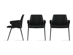 Sedia imbottita con braccioli PLATE | Sedia con braccioli - Plate