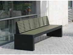 Panchina in acciaio inox e PET con schienale COMFONY 40 | Panchina con schienale - Comfony