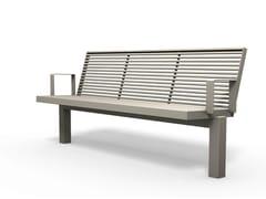 Panchina con braccioli SICORUM M 400 | Panchina con braccioli - Sicorum