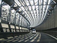 Copertura integrata antirumore e sicurezza stradaleAKUTUBE - SITAV COSTRUZIONI GENERALI