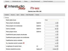 Calcolo travi in acciaioiTtr-acc - INTERSTUDIO