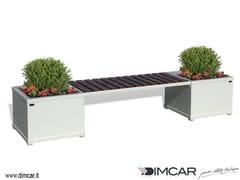 Panchina in metallo in stile moderno con fioriera integrata senza schienaleRubix - DIMCAR