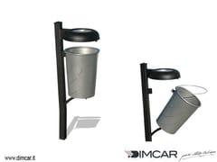 Portarifiuti in metallo per esterni con coperchio con portacenereCestino Idea - DIMCAR