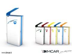 DIMCAR, Cestone Paint Portarifiuti in metallo con coperchio per raccolta differenziata