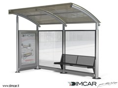 Pensilina per fermata autobusPensilina Space con parete laterale - DIMCAR