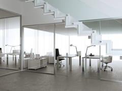 Parete mobile in alluminio e vetro per ufficioALLinONE - MASCAGNI